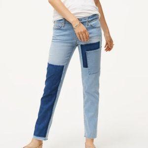Loft patchwork jeans size 24/00
